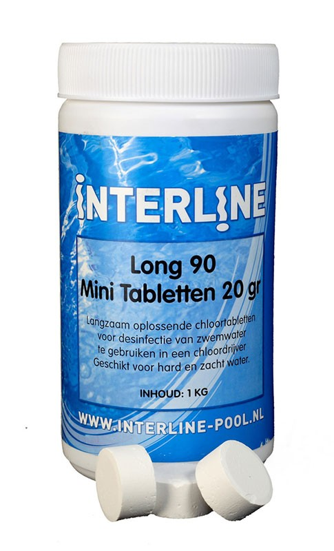 Long 90 mini chloortabletten 20 gr.